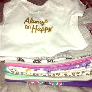 18 never worn 3-6 month little girl onesies